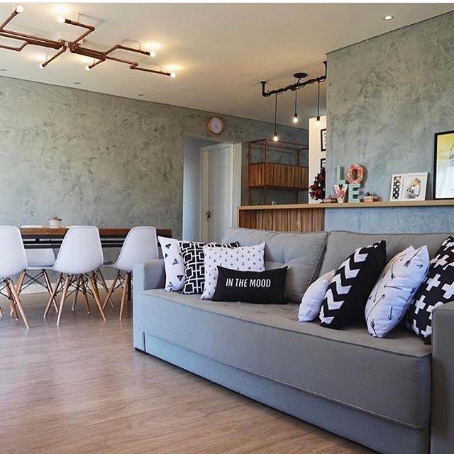 Ziegelwand unbehandelt Sofa Polstermöbel moderne rustikale - unbehandelte ziegelwand
