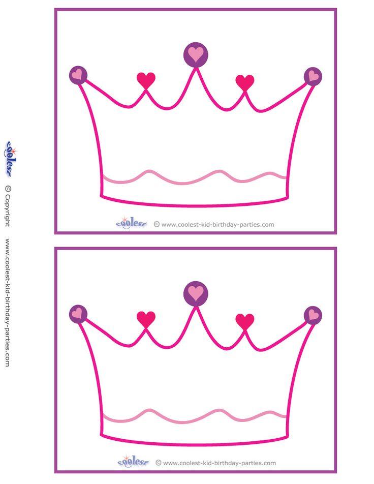 blank printable crown invitations coolest free printables