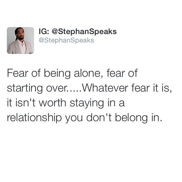 Fear of dating and relationships