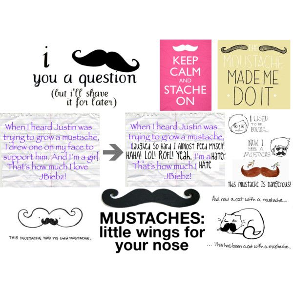 """""""Mustache Quotes"""" by fushsia-wolf on Polyvore"""