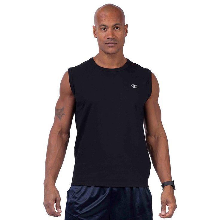 Big & Tall Champion Solid Muscle Tee, Men's, Size: Xl Tall, Black