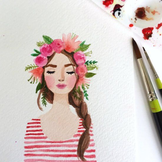 A look at the color red, and tips for creating beautiful paintings (like this one) using only two colors.