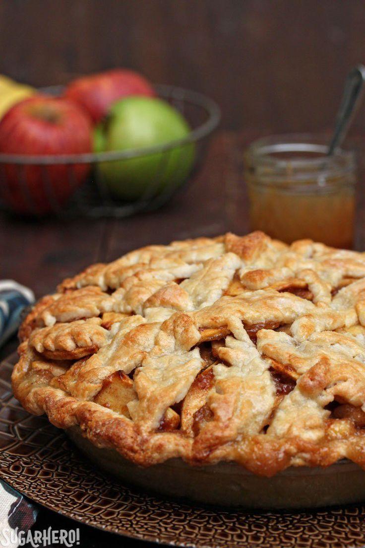Salted Caramel Apple Pear Pie | SugarHero! | Bloglovin'