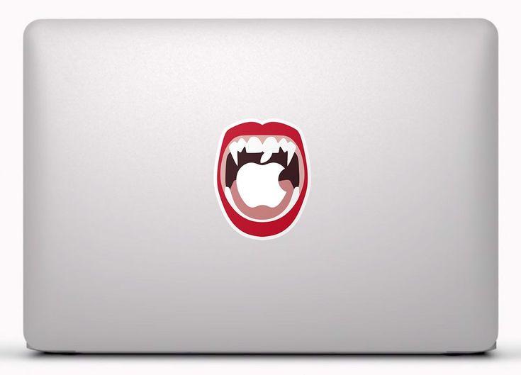 Pegatinas: Boca de Vampiro Vinilo, pegatina, adhesivo para portátil, Mac, o Macbook. #vinilosportatil  #vinilosmac #vinilosmacbook