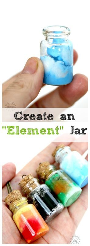 Element Jars: Create Sun, Moon, Earth, and Sky in these fun DIY Element Jar…