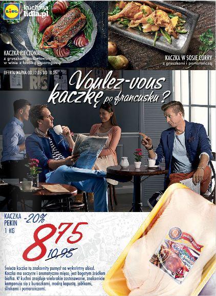 W tym tygodniu w Lidlu Tydzień Francuski!!!Ogromny wybór serów pleśniowych i nie tylko. Voulez-vous kaczkę po francusku? http://www.promocyjni.pl/gazetki/15980-kaczka-po-francusku--gazetka-promocyjna