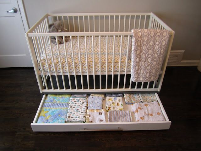 IKEA Hackers: Simple crib with storage ... just for future reference in case number 2 comes along some day :)