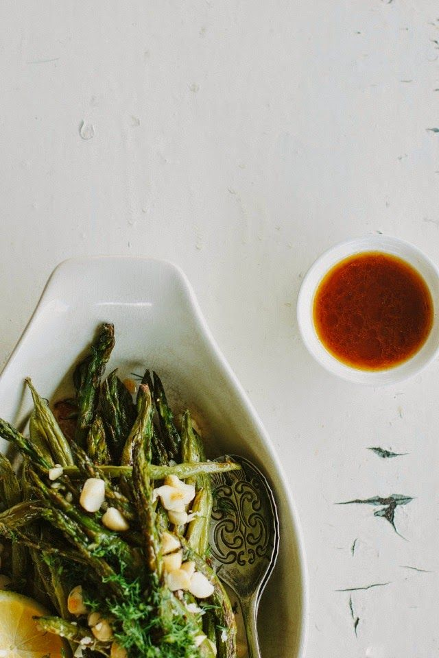 ... -roasted asparagus + green bean salad with smoked paprika dressing