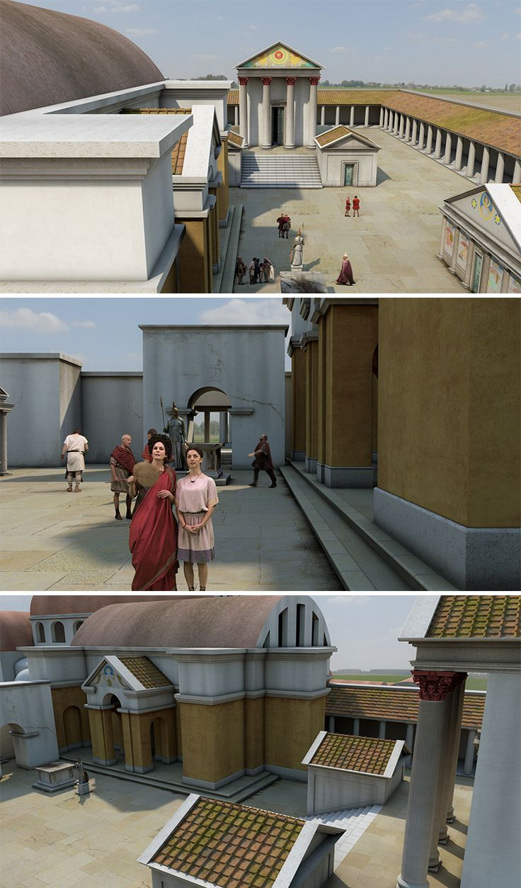 ISODESIGN | New Roman Baths – CGI reconstructions | Roman Baths Performance videos and CGI environments presented at 1:1 scale in the newly modelled Roman Baths.