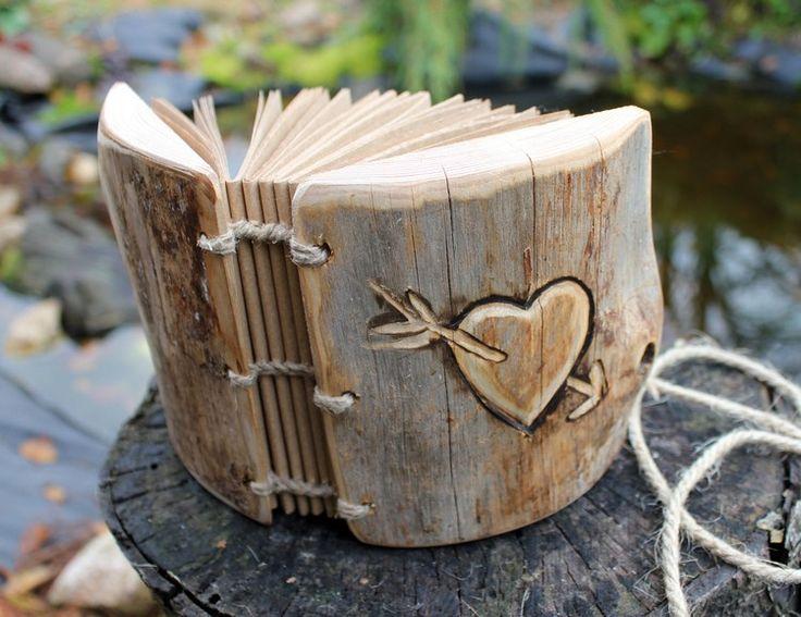 Hochzeit Gästebuch aus Holz mit Gravur