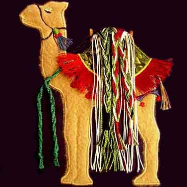 Camels a PDF Machine Applique Quilt Pattern by by critterpat