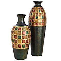 Assorted Terracotta Jewel Multiblock Vases