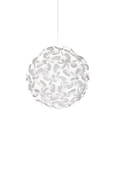 Flowering Lora Pendant Light By Vita Lighting   White