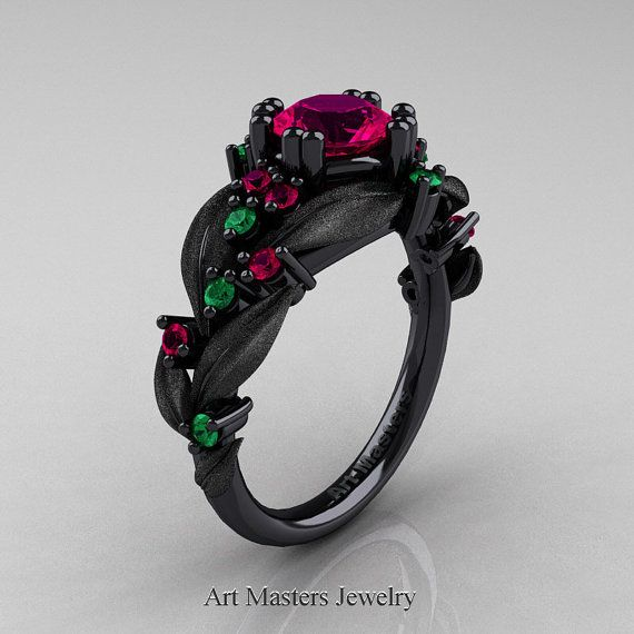 Nature Classic 14K Black Gold 1.0 Ct Rose Ruby by DesignMasters