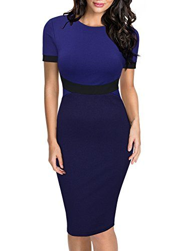Miusol Women's Formal Scoop Neck Optical Illusion Small Sleeve Organization Midi Gown
