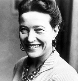 Simone de Beauvoir. Escritora, profesora y filósofa francesa nació en París el 9 de enero de 1908 y murió el 14 de abril de 1986. Escribió novelas, ensayos, biografías y monográficos sobre temas políticos, sociales y filosóficos. Sus novelas: La invitada (1943), La sangre de los otros (1945), Todos los hombres son mortales (1946), Los mandarines (1954, ganadora del Premio Goncourt), Las bellas imágenes (1966), La mujer rota (1968), Cuando predomina lo espiritual (1979).
