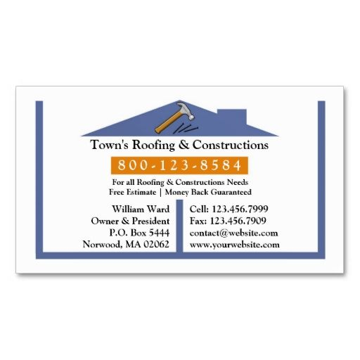 11 best roofing images on Pinterest Business card design, Card - roofing estimate