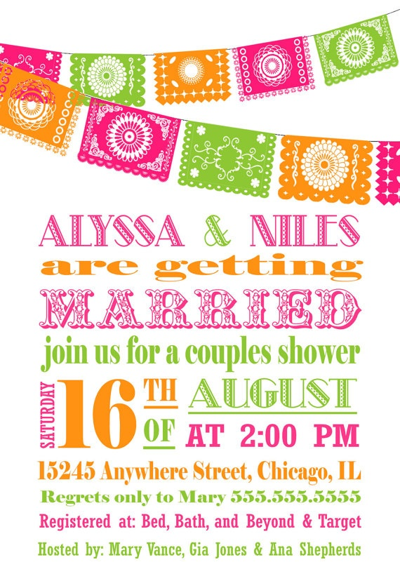 Fiesta Papel Picado Invitation  Bridal by InvitingPrintables, $15.50