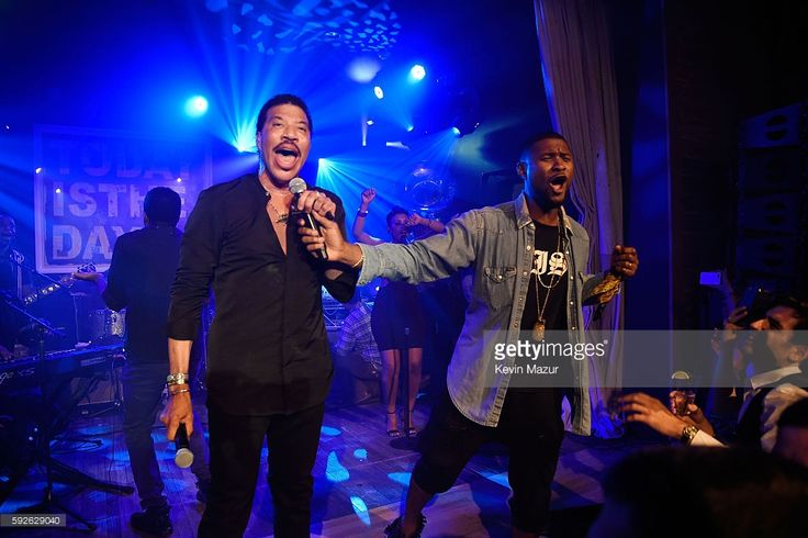 Lionel Richie and Usher perform at Apollo in the Hamptons 2016 at The Creeks on…
