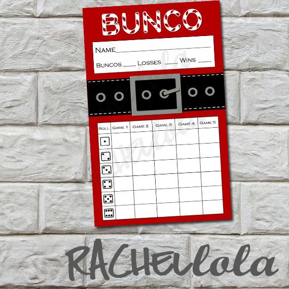Christmas Bunco Party Ideas Part - 30: INSTANT DOWNLOAD Bunco Score Card Santa Suit By Rachellola