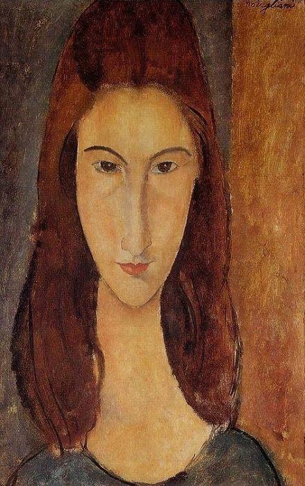 Jeanne Hebuterne - The Artist's Wife - Amadeo Modigliani - Obrazy olejne i dekoracje na ścianę - RamaRama.pl
