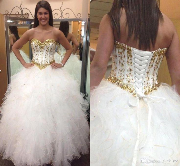 Lace beaded white dress size 16