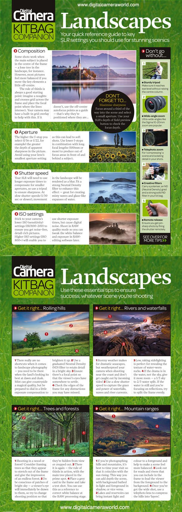 Landscapes: your quick reference guide to key SLR settings you should use for stunning scenics #Photography