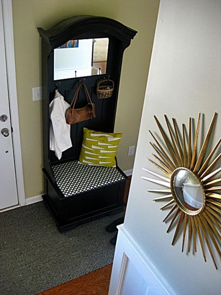 Stylish furniture that serves multiple purposes can have a big impact in the limited space of small entryways.