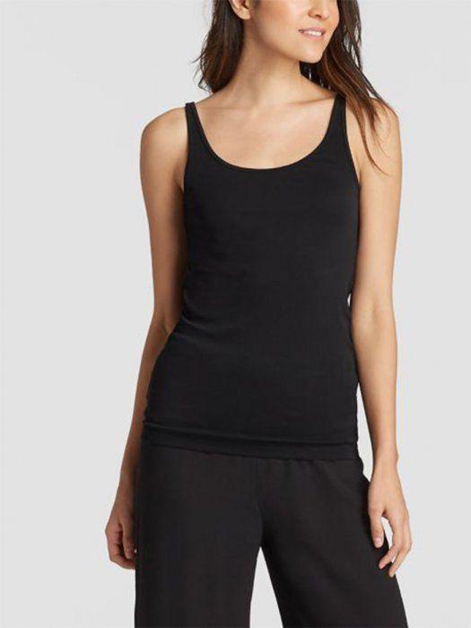 e5ac36a8f7df Eileen Fisher System Silk Jersey Cami in Black