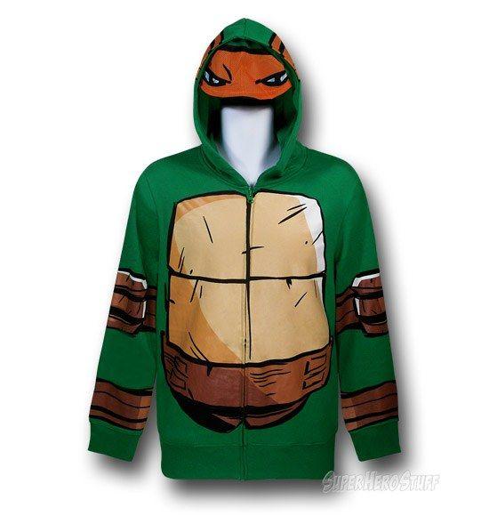 TMNT Michelangelo Costume Hoodie