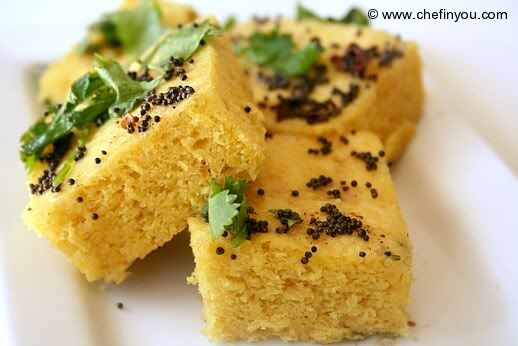 Finally a dhokla recipe that worked! After 5 mins of steaming, add more water. Steam for a total of 9 mins, otherwise follow recipe.