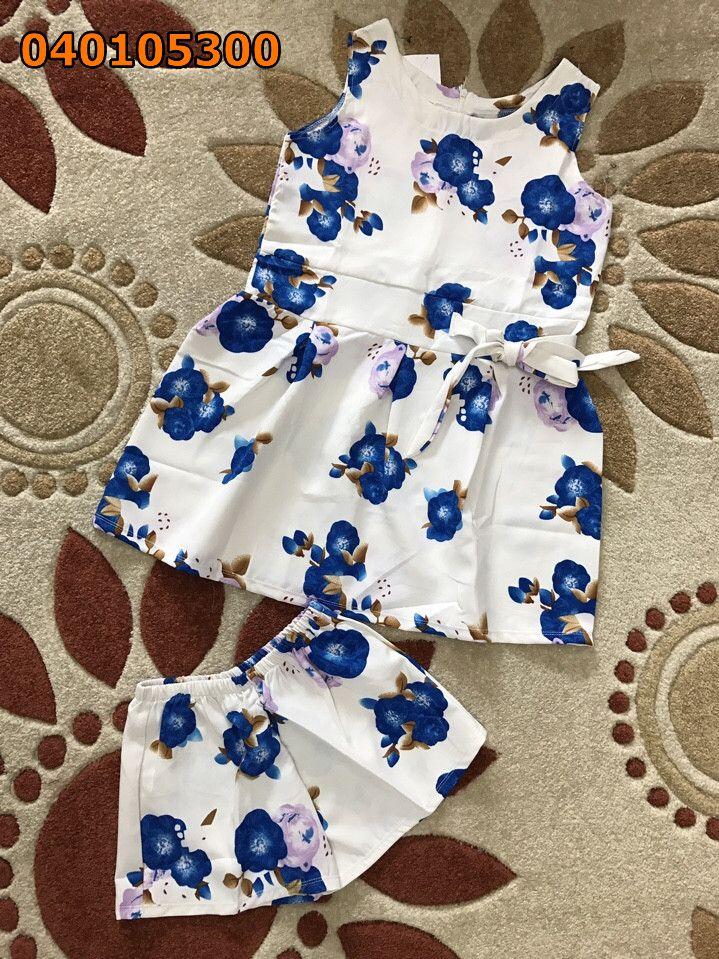 Set đồ vải siu mỹ quần đùi hoa
