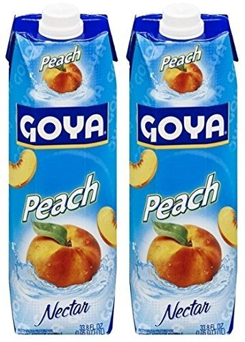 Goya Peach Nectar 33.8 Fl.Oz. (Pack of 02) * Want to know more, click on the image.