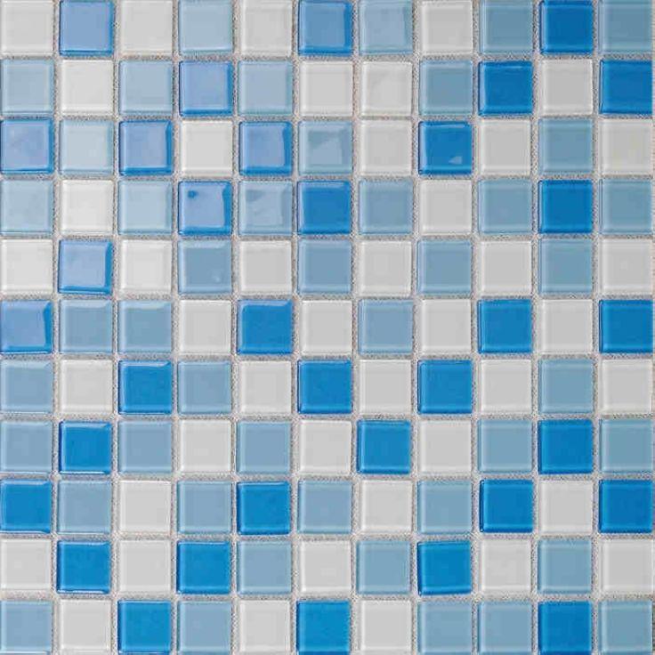 Синий кристалл стеклянная мозаика плитка для стены декор ванная душ плитка квадратный узор синий кухня щитка плитки плавательный бассейн