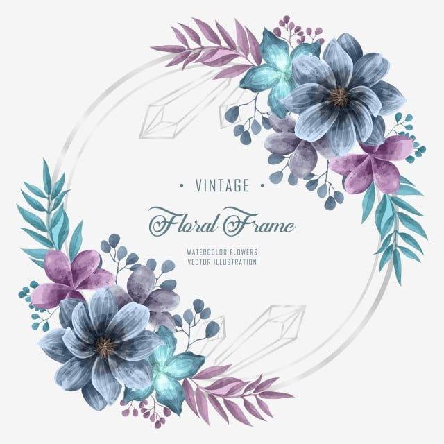 Vintage Aquarela Flor Floral Casamento Moldura Decoracao Fundo Padronizar Flor Imagem Png E Psd Para Download Gratuito In 2020 Watercolor Flowers Flower Frame Wedding Frames