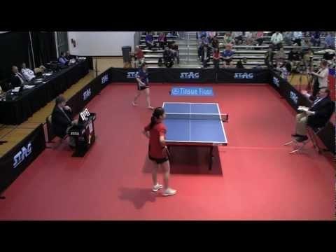 Women's Singles Event 1 QF: Ariel Hsing vs. Sara Yuen - 2012 North American Olympic Trials