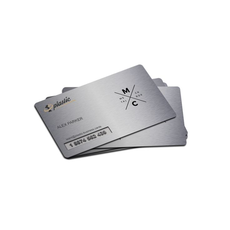 Metal Business Card – 2 000 pcs, Black Steel