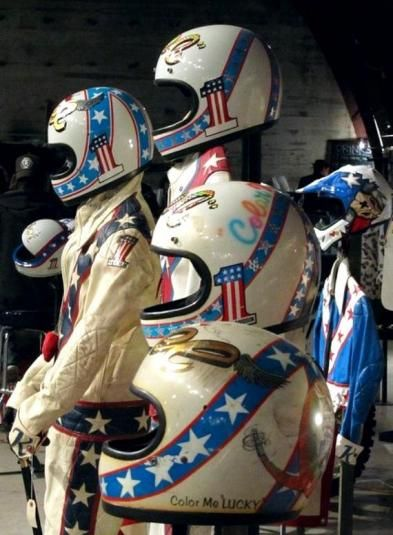 Evel Knievel's Actual Jump Helmets
