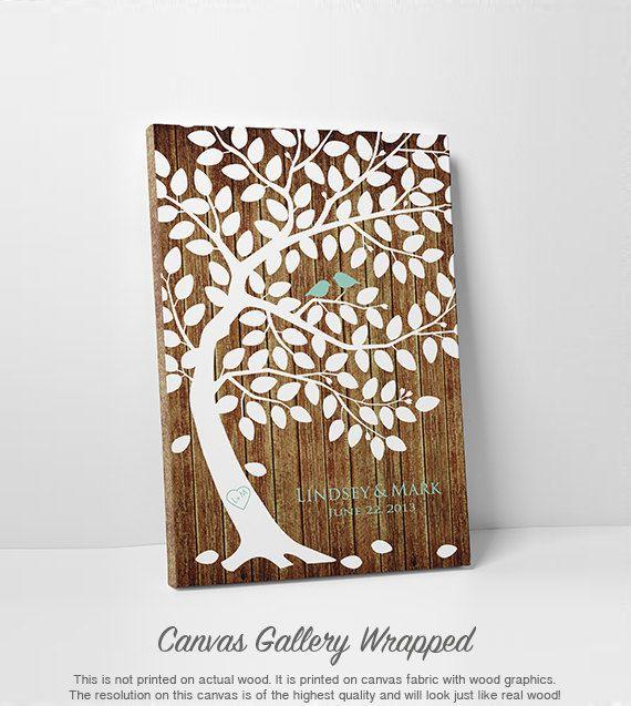Bruiloft boom gast boek Poster Guest Book Tree
