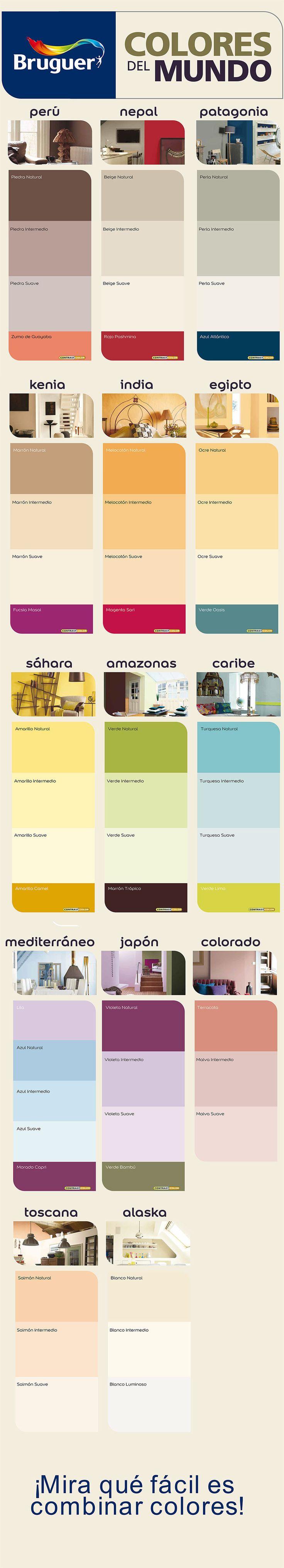 M s de 1000 ideas sobre paredes del sal n en pinterest - Colores del mundo de bruguer ...