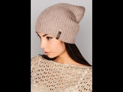 Вязаная шапка спицами♥Простая женская шапка+мастер класс♥lesson 1.Шапка бини спицами♥ - YouTube