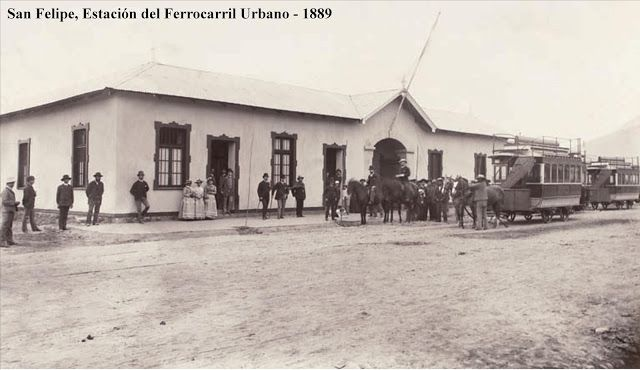 Estación San Felipe en 1889