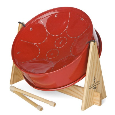 Small pan steel drum with great calypso sound!  Made in Trinidad and Tobago, this is a smaller version of the pan steel drums.
