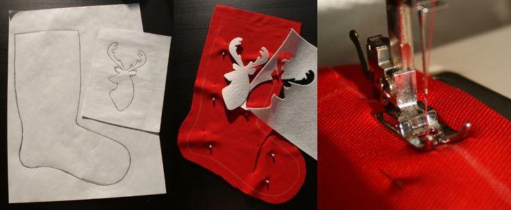 Jak uszyć świąteczne skarpety :)