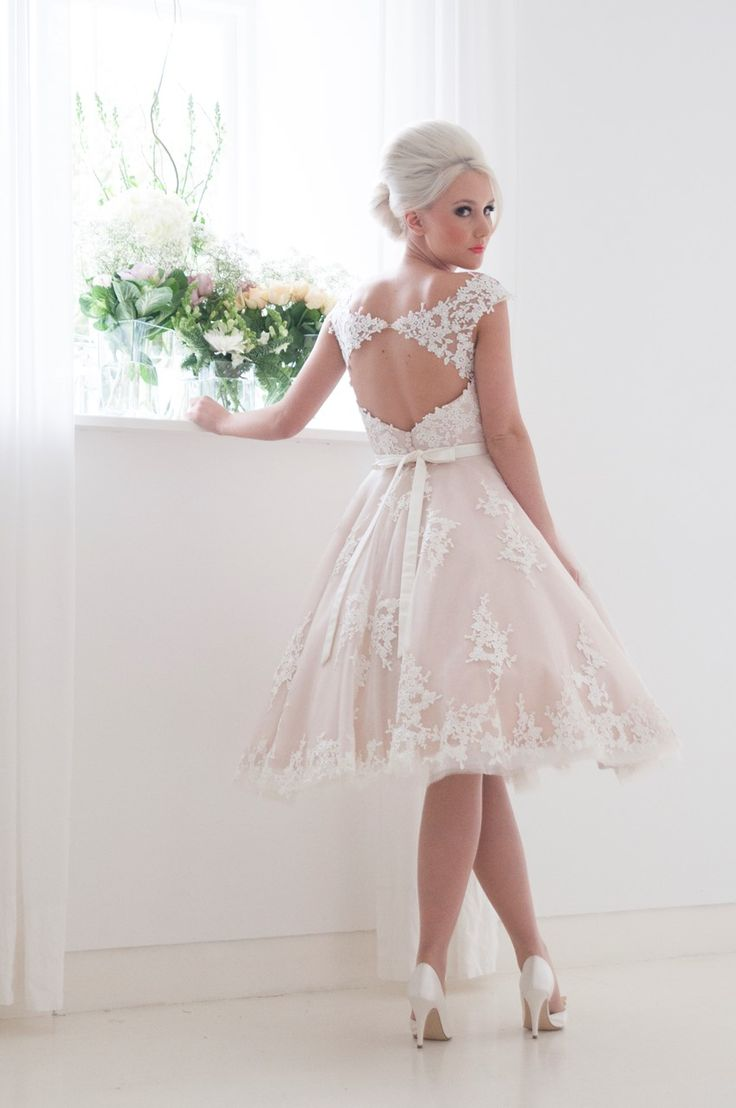 Unique The Fabulous Bridal Collection from House of Mooshki Tea Length Wedding DressesShort Lace