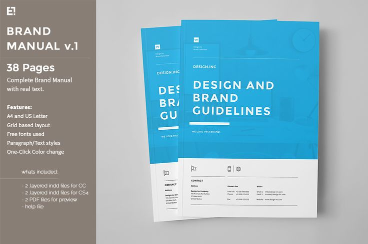 Brand Manual by Egotype on @creativemarket