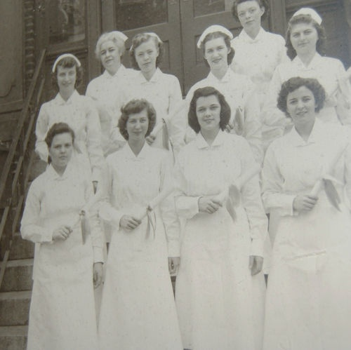 1950'S NURSING GRADUATE PHOTOGRAPH LARGE FRAMED RICHMOND VIRGINIA NURSING SCHOOL FOR SALE