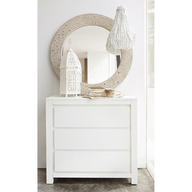 Commode 3 tiroirs blanche White