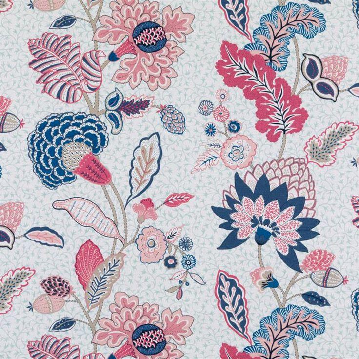 Pattern #:21085-54 Pattern Name: CHILVERS, SAPPHIRE Book #2937 : Tilton Fenwick Prints Book #2935 - Prussian, Spruce: Tilton Fenwick Collect...