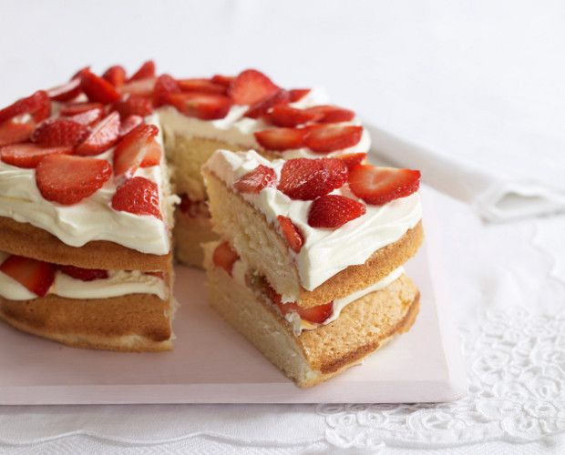 Wimbledon strawberry cake from Mary Berry's Complete Cookbook